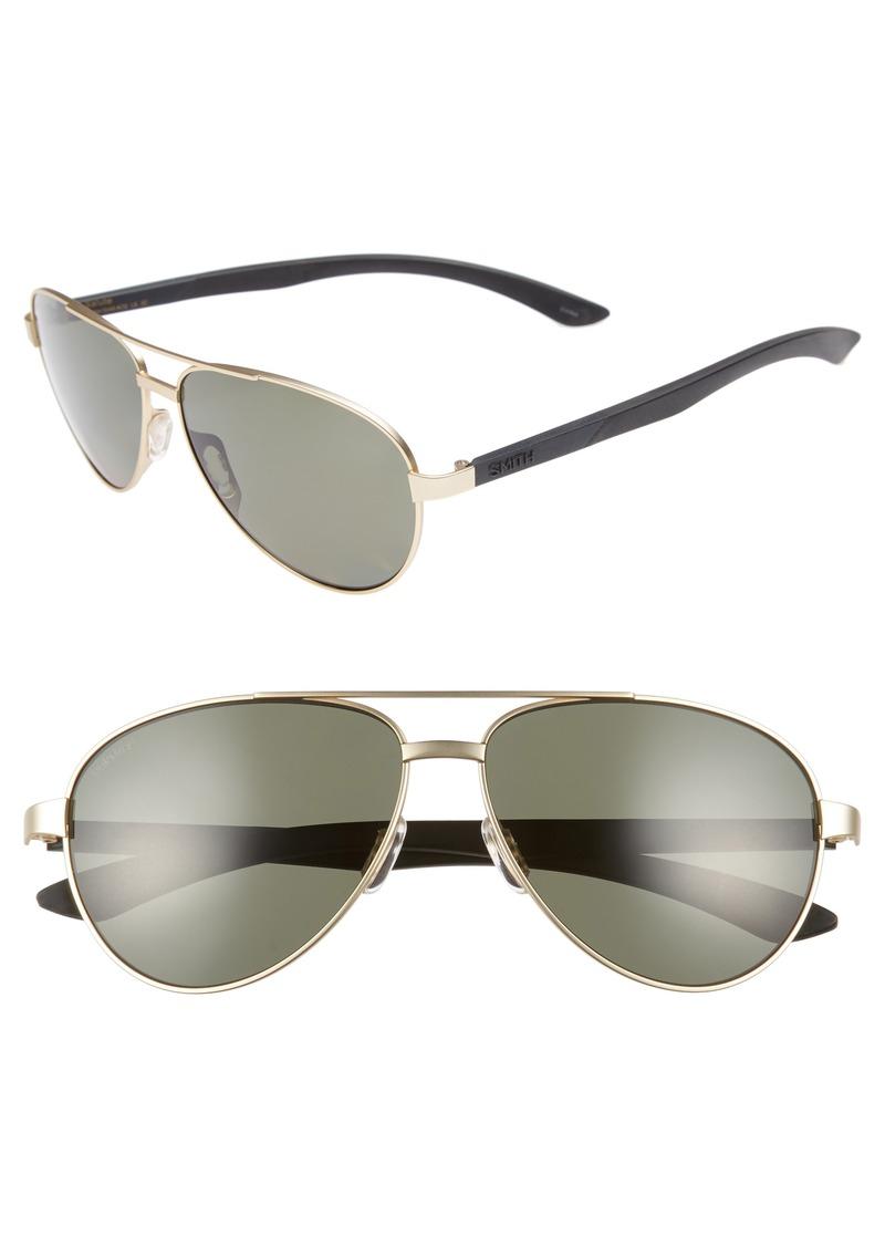a063818f38 Smith Smith Salute 59mm Polarized Aviator Sunglasses