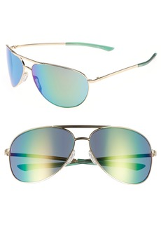 Smith Serpico 2 65mm Mirrored ChromaPop™ Polarized Aviator Sunglasses