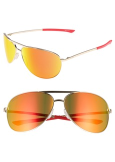Smith Serpico 2 65mm Mirrored ChromaPop™ Polarized Aviator Sunglasses