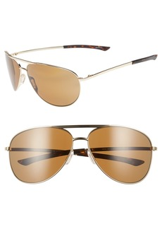 Smith Serpico Slim 2.0 65mm ChromaPop™ Polarized Aviator Sunglasses