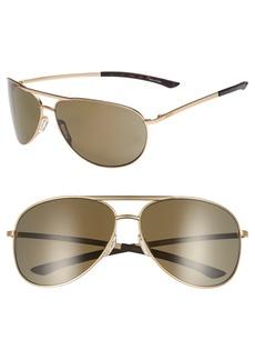 Smith Serpico Slim 2.0 65mm ChromaPop™ Polarized Aviator Sunglasses