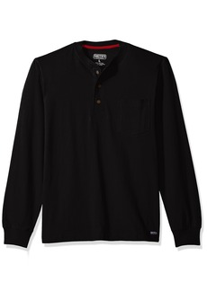 Smith's Workwear Men's Heavyweight Cotton 3 Button Henley Knit