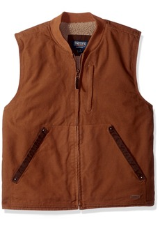 Smith's Workwear Men's Sherpa Lined Duck Canvas Vest