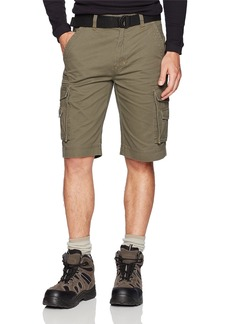 "Smith's Workwear Smiths Men's 11"" Relaxed Fit Belted Twill Cargo Short"