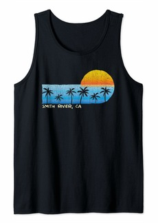 Vintage Smith River CA Palm Trees & Sunset Beach Tank Top