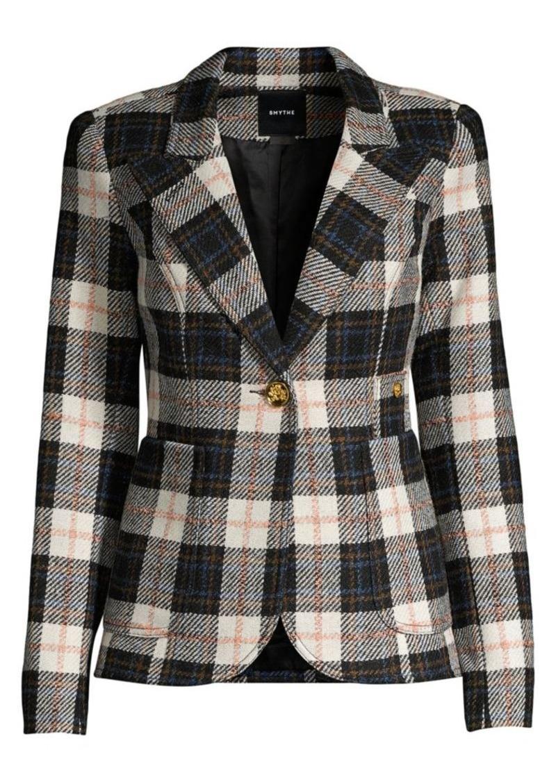 Smythe Duchess Wool Plaid Blazer