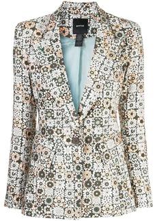 Smythe graphic floral print blazer