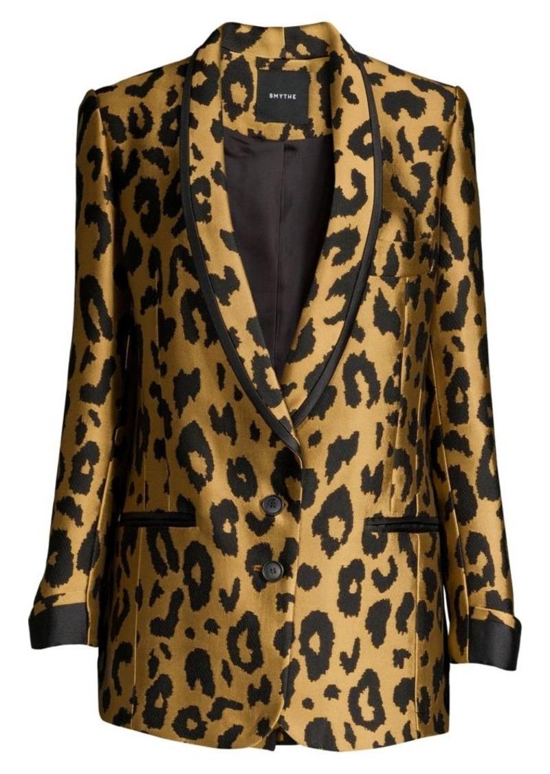 Smythe Salon Leopard-Print Blazer