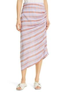 Smythe Asymmetrical Gathered Skirt