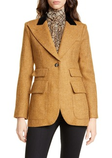 Smythe Birkin Herringbone Wool Blazer