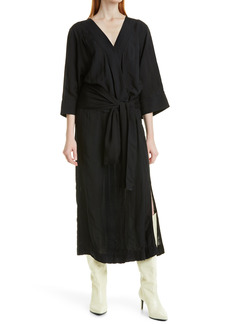 Smythe Drop Waist Belted Dress