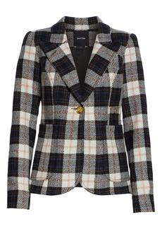 Smythe Duchess Buffalo Check Wool Blazer