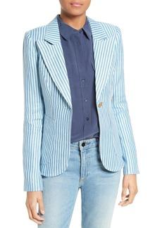 Smythe Duchess Stripe Linen Blazer