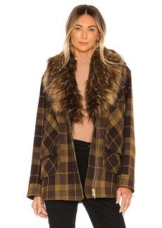 Smythe Faux Fur Barn Jacket