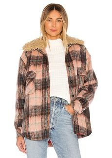 Smythe Faux Fur Collar Workwear Jacket