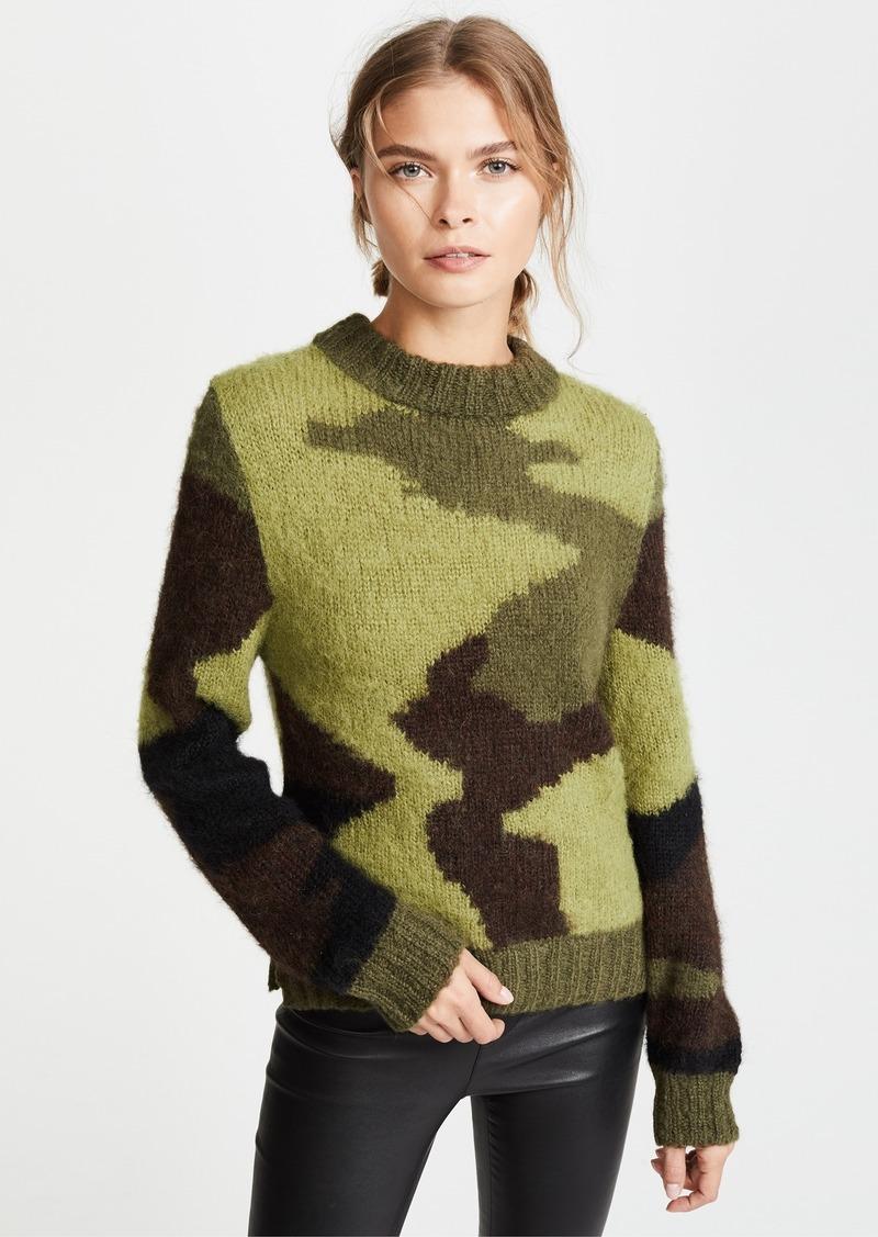 Smythe Smythe Hand Knit Camo Intarsia Sweater Sweaters