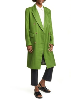 Smythe Herringbone Double Breasted Coat