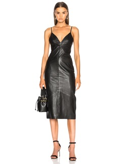 Smythe Leather Slip Dress