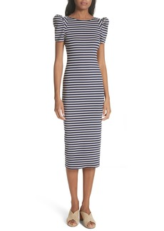 Smythe Puff Sleeve Body-Con Midi Dress