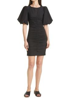 Smythe Ruched Bubble Sleeve Minidress