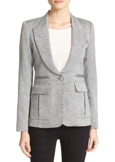 Smythe Tweed Pleat Pocket Blazer
