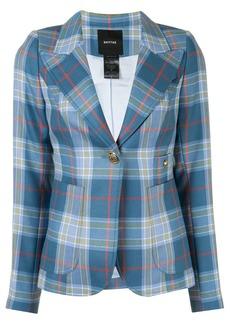 Smythe tartan-print single-breasted blazer