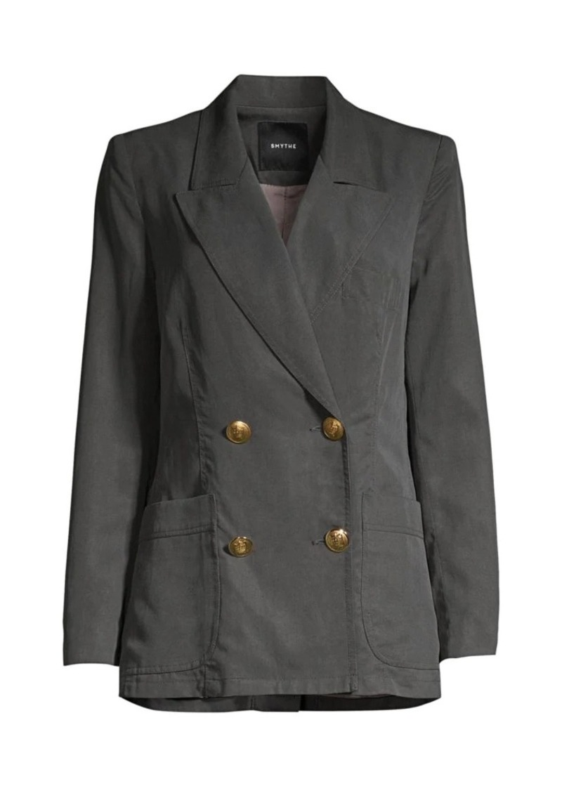 Smythe Unstructured Double Breasted Blazer