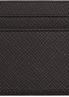 Smythson Black Panama Card Holder