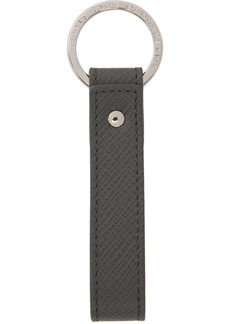Smythson Grey Panama Messenger Keychain