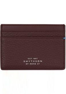Smythson Red Burlington Flat Card Holder