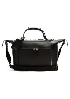 Smythson Greenwich lacquered-canvas weekend bag