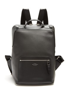 Smythson Greenwich woven-leather backpack