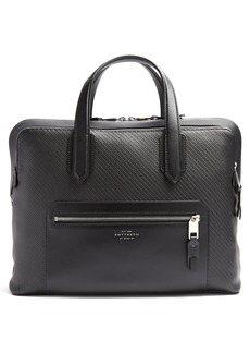 Smythson Greenwich woven-leather briefcase