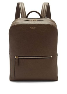 Smythson Ludlow grained-leather backpack