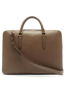 Smythson Ludlow grained-leather briefcase