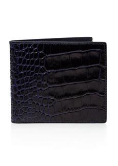 Smythson Mara Printed Calf Leather Wallet