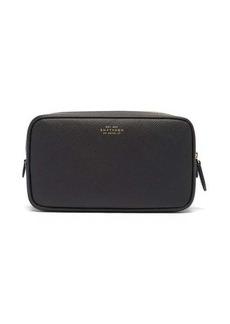 Smythson Panama double-zip leather wash bag