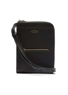 Smythson Panama grained-leather cross-body bag