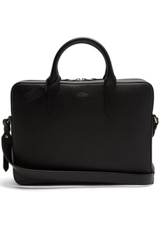 Smythson Panama leather briefcase