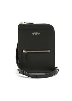 Smythson Panama leather crossbody pouch