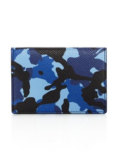 Smythson Panama Leather Vertical Card Case