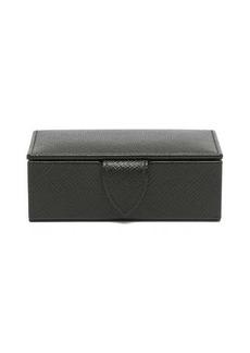 Smythson Panama mini leather cufflink box