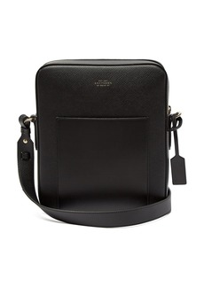 Smythson Panama Reporter leather cross-body bag