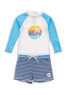 Snapper Rock Baby's & Little Boy's 2-Piece Sunset Stripe Long-Sleeve Set