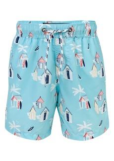 Snapper Rock Cabana Palm Swim Trunks (Big Boys)