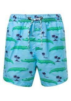 Snapper Rock Croc Island Swim Trunks (Toddler Boys, Little Boys & Big Boys)