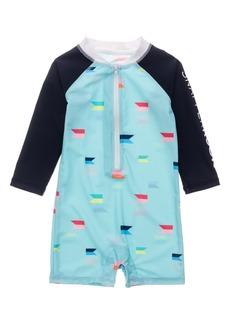 Snapper Rock Maritime Fliers One-Piece Rashguard Swimsuit (Baby)