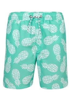 Snapper Rock Mint Pineapple Board Shorts (Baby Boys)
