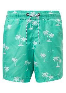 Snapper Rock Morada Palm Swim Trunks (Toddler, Little Boy & Big Boy)