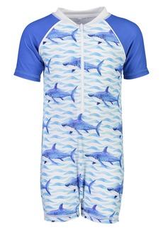 Snapper Rock Shark One-Piece Rashguard Swimsuit (Baby)